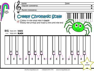 Creepy Chromatic Scale👻