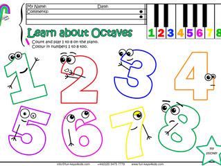 Learn about Octaves - 1, 8!