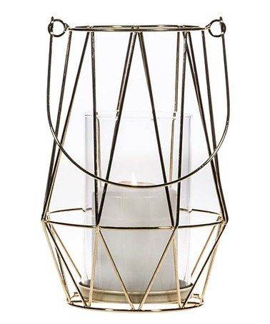 Gold wired geometric lantern
