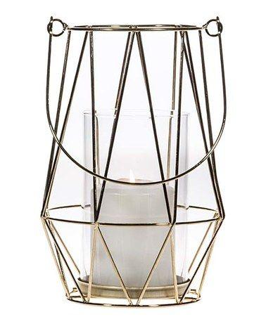 Gold wired geometric lantern