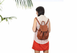 Back-Facing Girl with Backpack