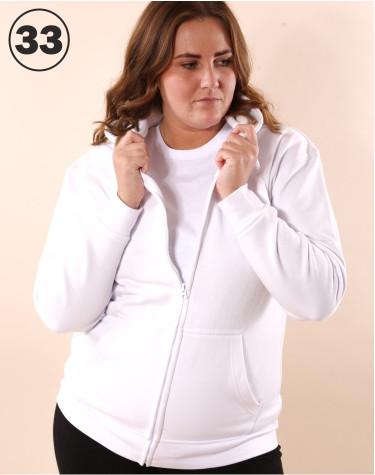 Basic Zip Sweat White