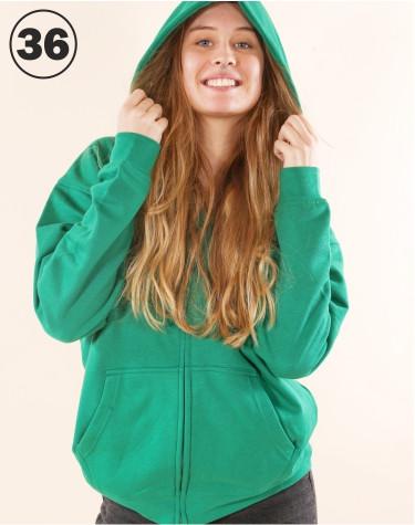 Basic Zip Sweat Green