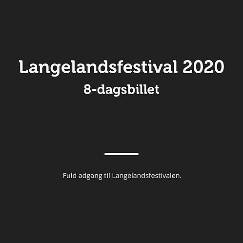 8-dags billet til Langelandsfestival 2020