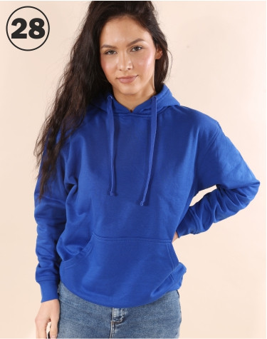 Basic Hooded Royal Blue