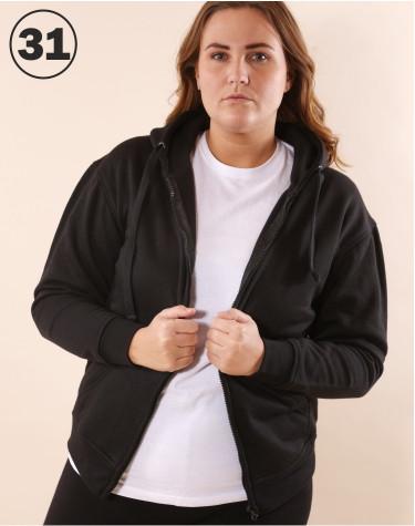 Basic Zip Sweat Black