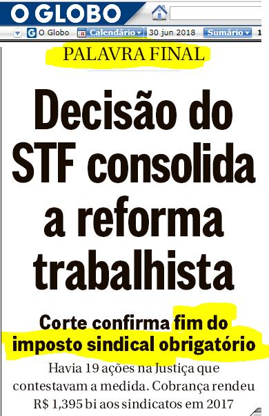 ReformaTrabalhista UmDentreMuitosPontosFinais necessários