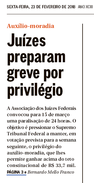 Muita Cara de PAU juizes preparando greve por auxilio moradia e o fim do mundo.png