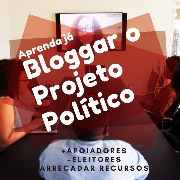 equipe na mesa e em vídeo conferência tratando conteúdo do blog do Funil de Votos do marketing político.
