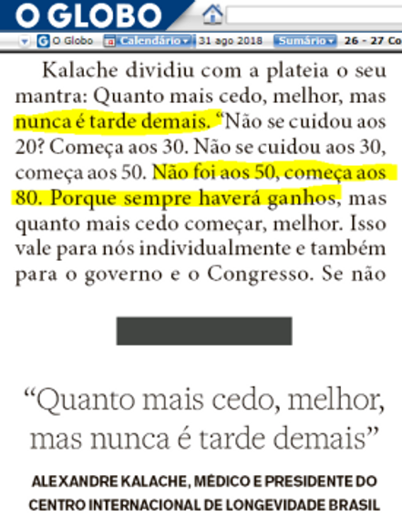 EnvelhecimentoAtivo drAlexandreKalache OpiniaoReal