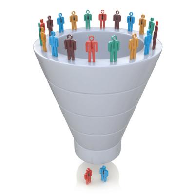 Processo de otimização de um funil de votos. funil de captação apoiadores e eleitores em potencial no marketing político
