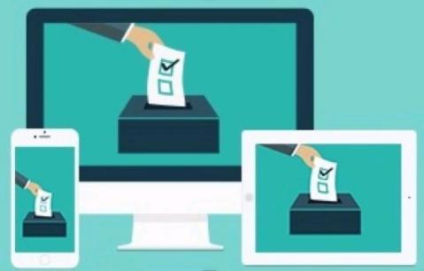funil de votos em 3 dispositivos computador, smartphone, tablet.  funil de captação apoiadores e eleitores em potencial no marketing político