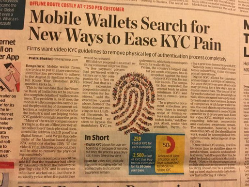 Video KYC can remove physical verification completely: Wriju Ray in Economic Times