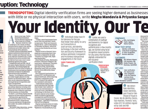 Digital Identity Verifications firms like IDfy seeing higher demand: Economic Times