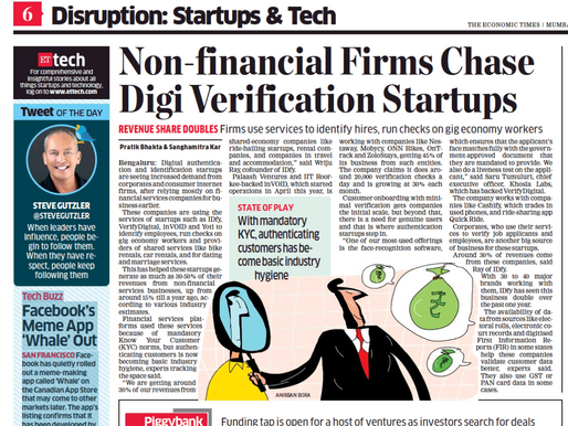 Non-financial firms chase digital verification start-ups like IDfy