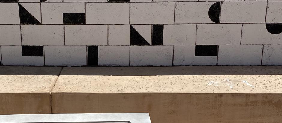 DIY stencil wall