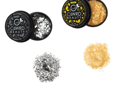 Biodegradable glitter 2 Set: Silver and Gold