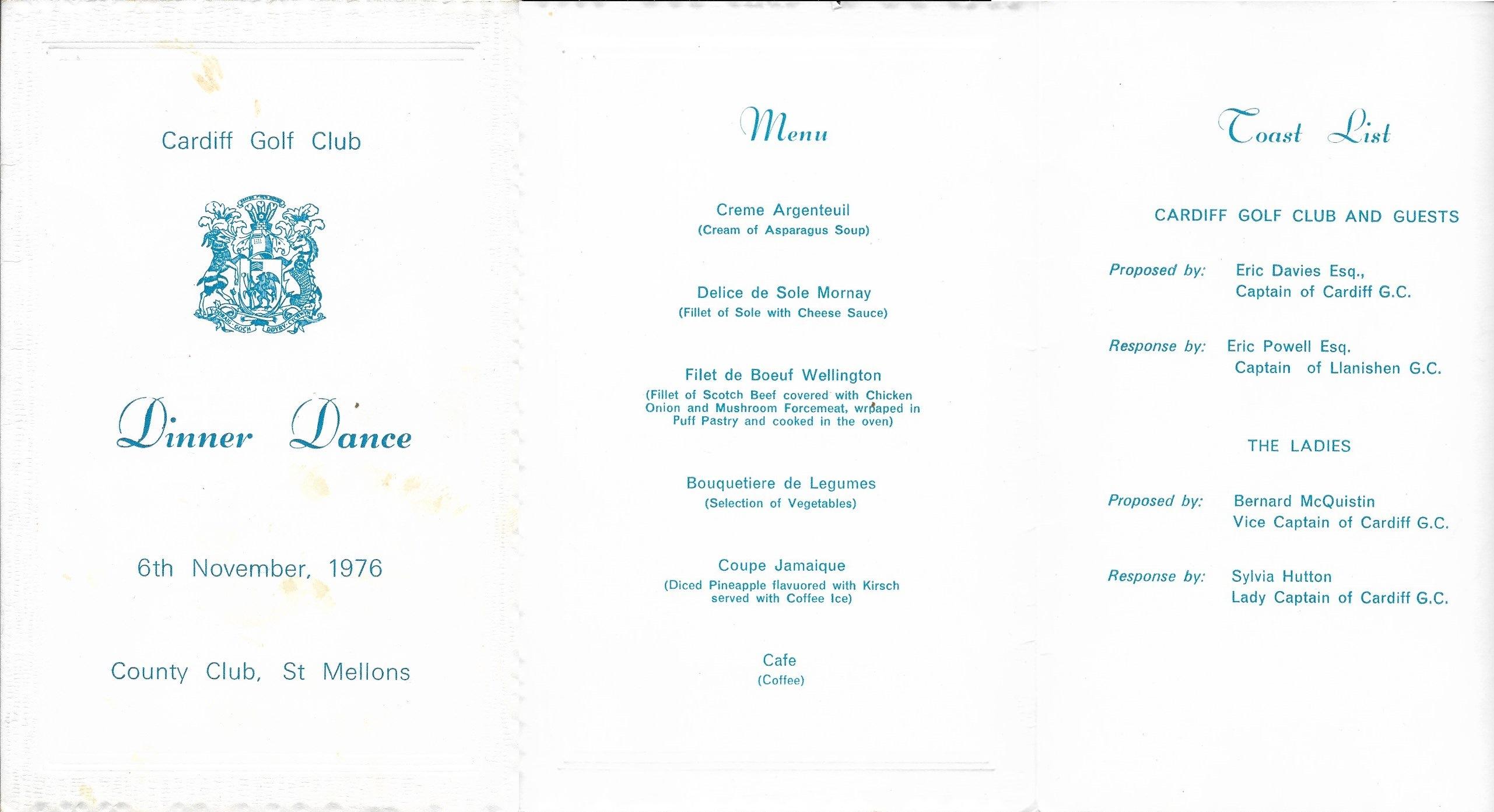 Annual Dinner Dance 1976