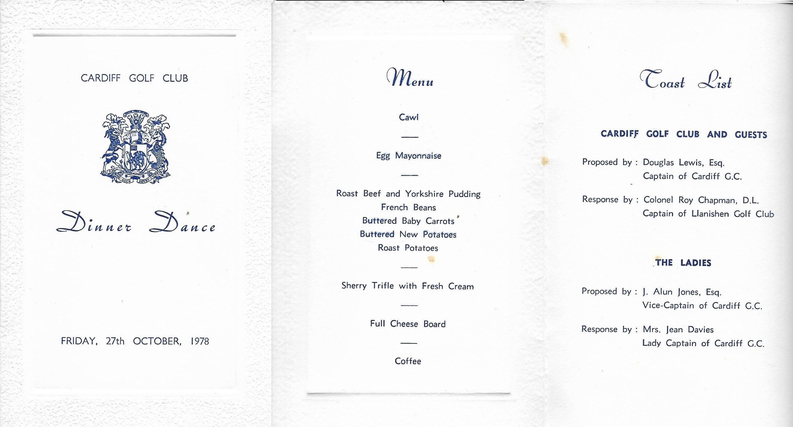 Annual Dinner Dance 1978