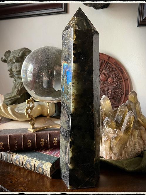Extra large Labradorite Crystal 15   Wicca Pagan image 1  Extra large Labradorit