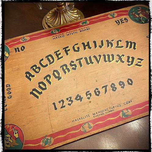1940s Hasko Mystic Board - Ouija Board