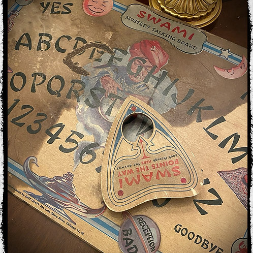 Swami talking board with planchette