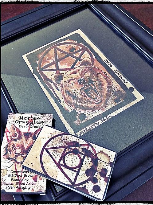 Signed & Framed (Bear) Print & Mortem Oraculum Deck