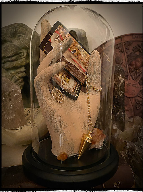 The Witches Hand - Art Piece in a Glass Dome