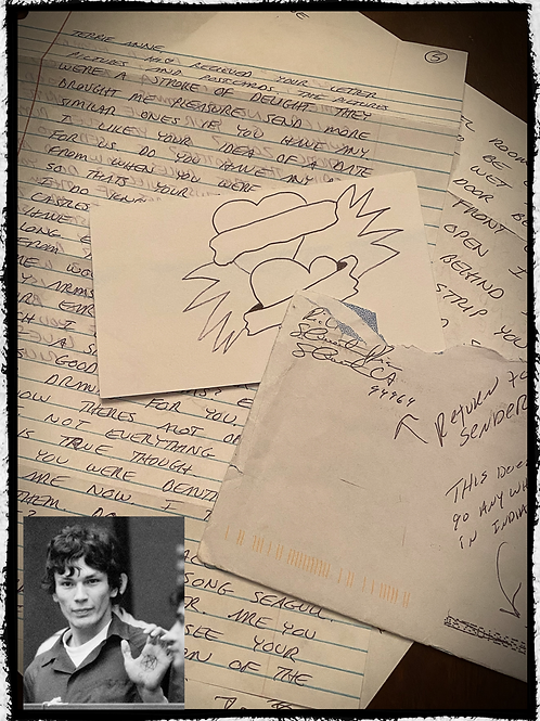 Richard Ramirez - Sexual Letter, Envelope and Drawing