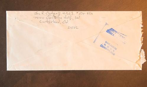 serial killer joseph roy metheny cannibal killer letter envelope