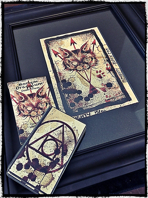 Signed & Framed (Cat) Print & Mortem Oraculum Deck