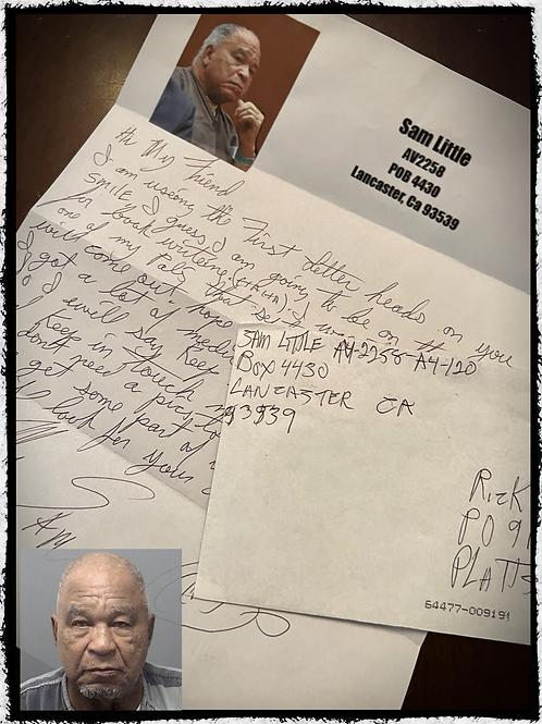 Samuel Little - Handwritten, hand signed, letter and envelope set