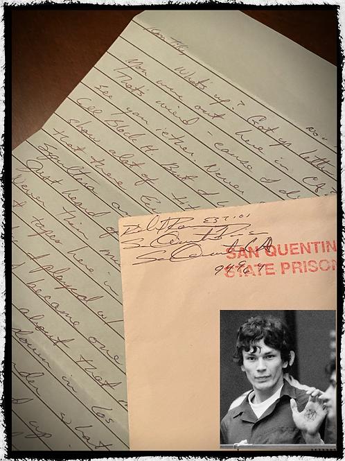 "Serial Killer ""Richard Ramirez"" Signed Letter and Envelope Set"