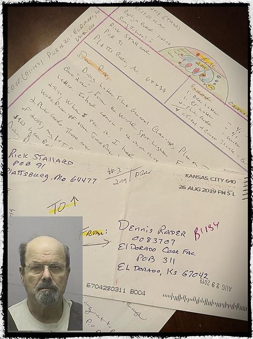 BTK Dennis Rader (Bind Torture Kill) One Page Letter, Envelope Set