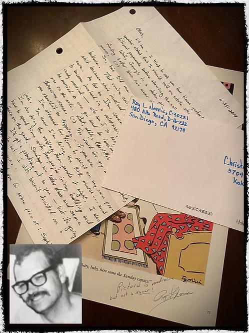 "Roy Lewis Norris AKA the ""Toolbox Killer"" Letter, Envelope and Bonus"