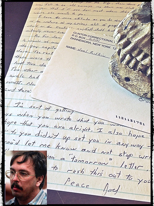 Serial killer - Joel Rifkin aka New York Serial Killer - letter and envelope set