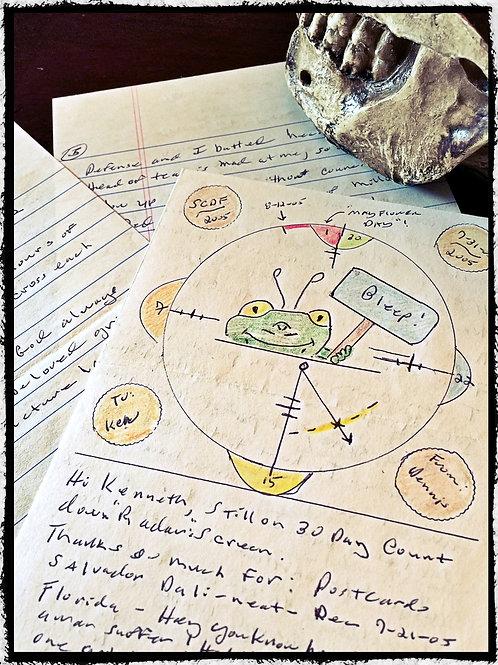 B.T.K Dennis Rader – Frog Demon Art in Pen and Colored