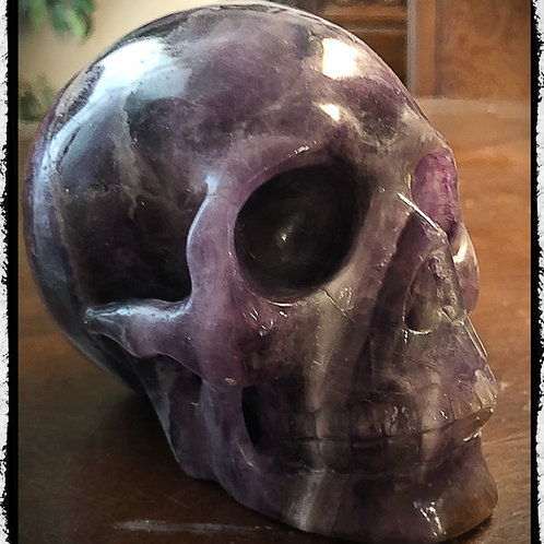 "Large Fluorite Crystal Skull 5"" Scrying, Wicca, Pagan, Divination"
