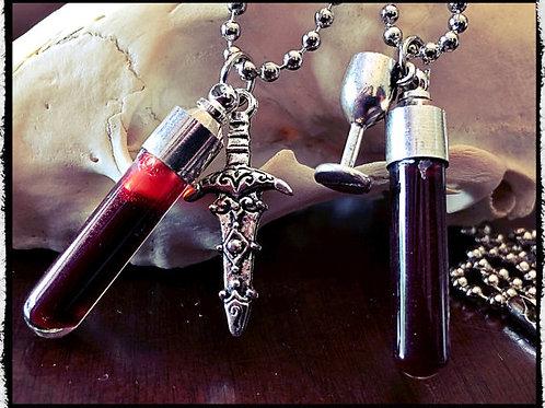 Single Piece - Blood Vial Pendant Kit - Includes Anticoagulant