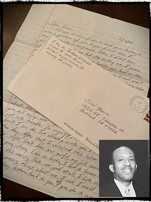 """Elton Manning Jackson"" - AKA The Hampton Roads Killer - Letter and Envelope Set"
