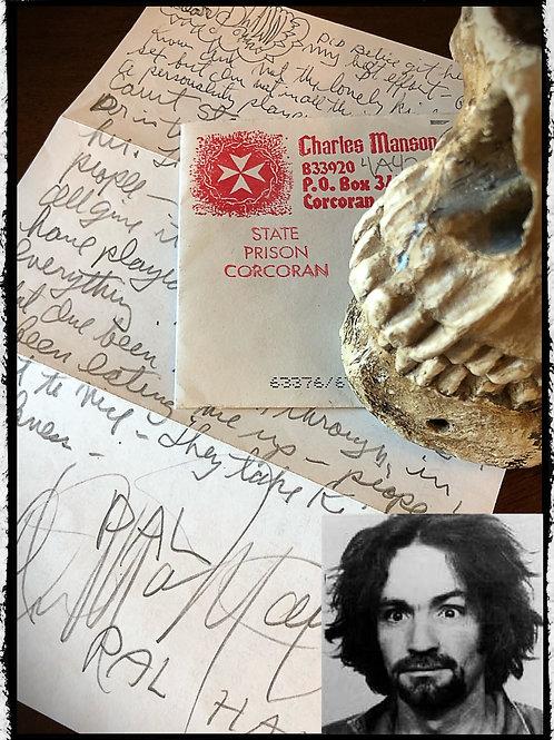 Charles Manson - Letter Envelope Set