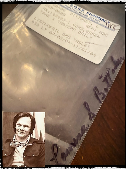 "Serial Killer Lawrence Bittaker AKA ""Tool box killer"" Pharmacy Bag"