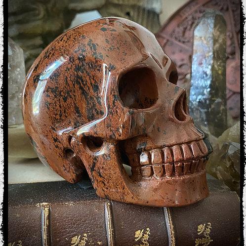"""Large Mahogany Obsidian Crystal Skull 5"""""""