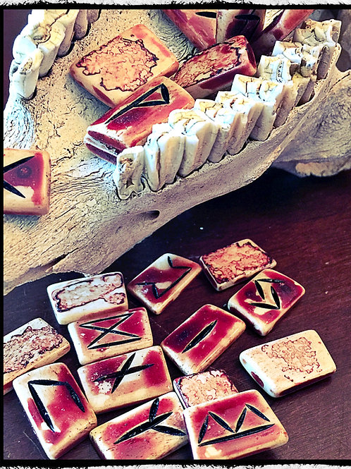 Real Bone and Blood Runes - Elder Futhark