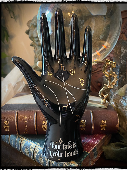 Black Palmistry Statue - Your Fate is In Your Hands - Chiromancy