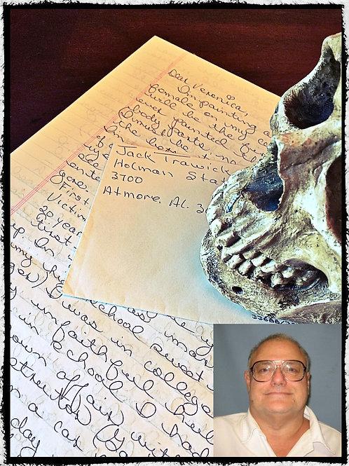 Serial Killer Jack Harrison Trawick– Graphic - Letter and envelope Set