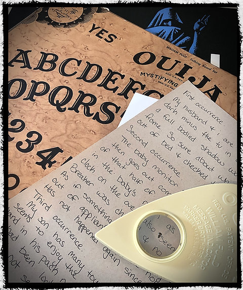 Haunted , Fuld Parker 1960\u0027s Vintage Ouija Board