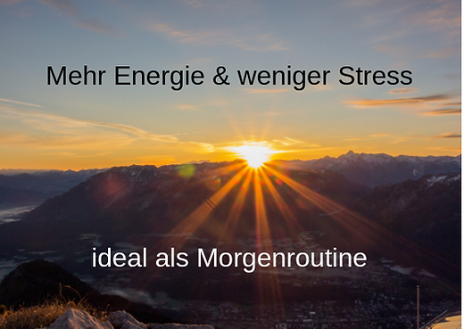 Mehr Energie & weniger Stress ideal als