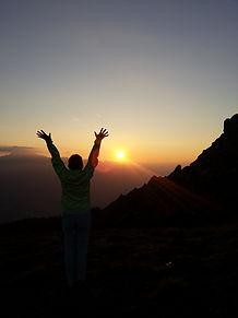 alba dalla cima di Monte Elmo in val Pusteria