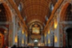 Zicht op orgel en entree Basiliek Oudenbosch